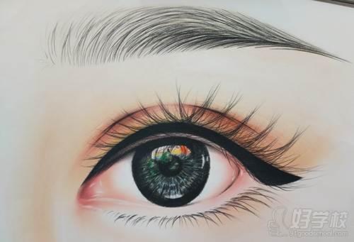 素描睫毛的画法图解