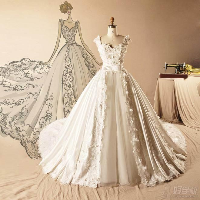熟悉婚纱礼服结构和层次,知道鱼骨定位,排花,钉珠,掌握抓杠等立体裁剪图片