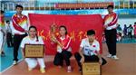 我院女排在海南省大学生排球锦标赛中勇夺冠军