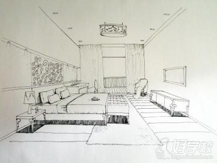 一点透视欧式家具手绘