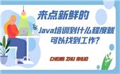 來點新鮮的,Java培訓到什么程度就可以找到工作?