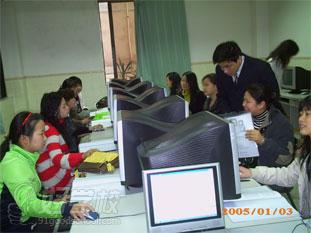 博得教育电脑培训学校上课场景