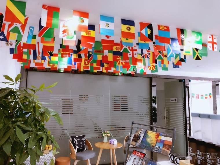 各国国旗展示区域