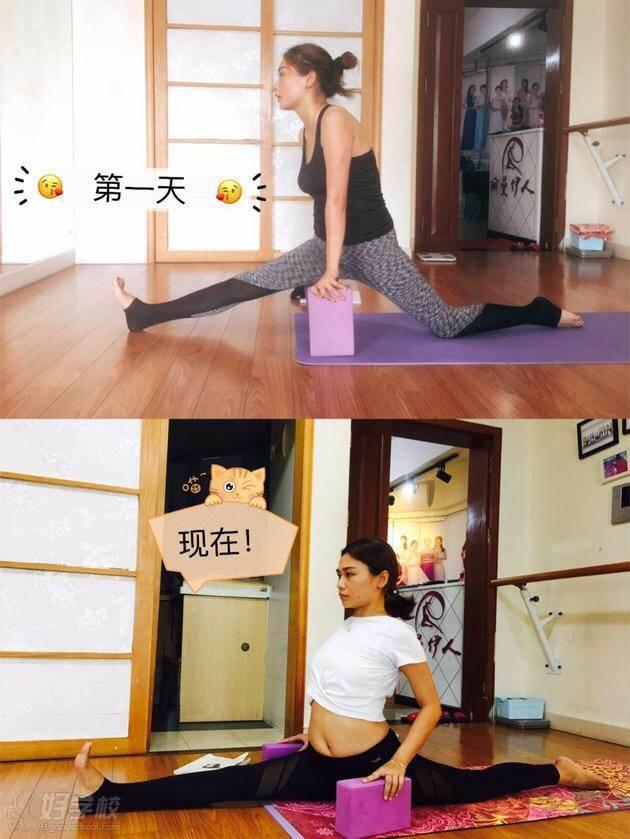 广州瑜曼伊人瑜伽培训中 学习情景