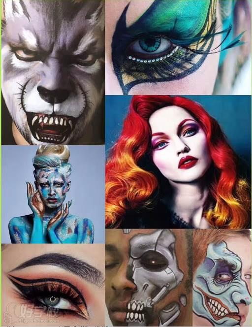 珠海国际艺术创意彩妆特训班-珠海倾城造型化妆艺术图片
