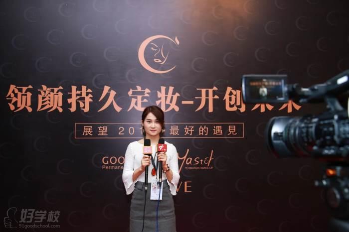 学员陈水清接受电视台采访