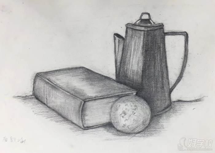 影龙培训学员的素描作品