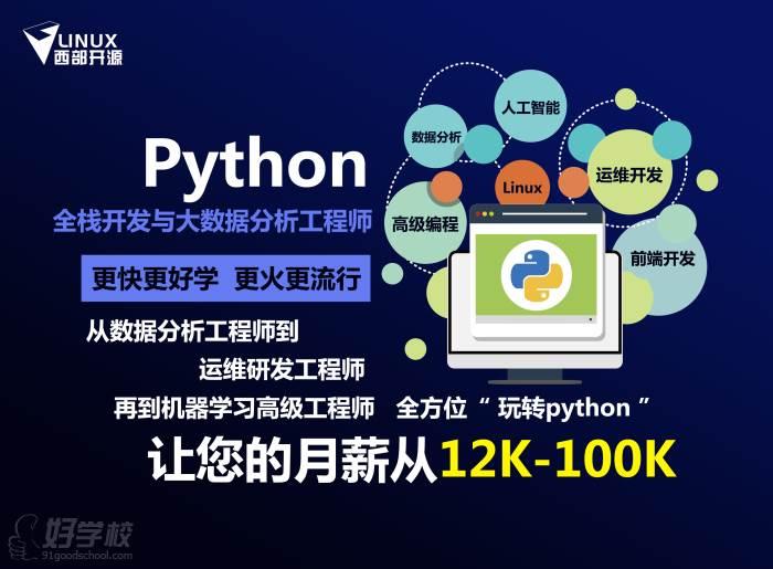 西安python全栈开发与大数据分析工程师培训