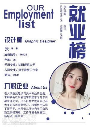 就业学员——设计师 Graphic Designer张同学