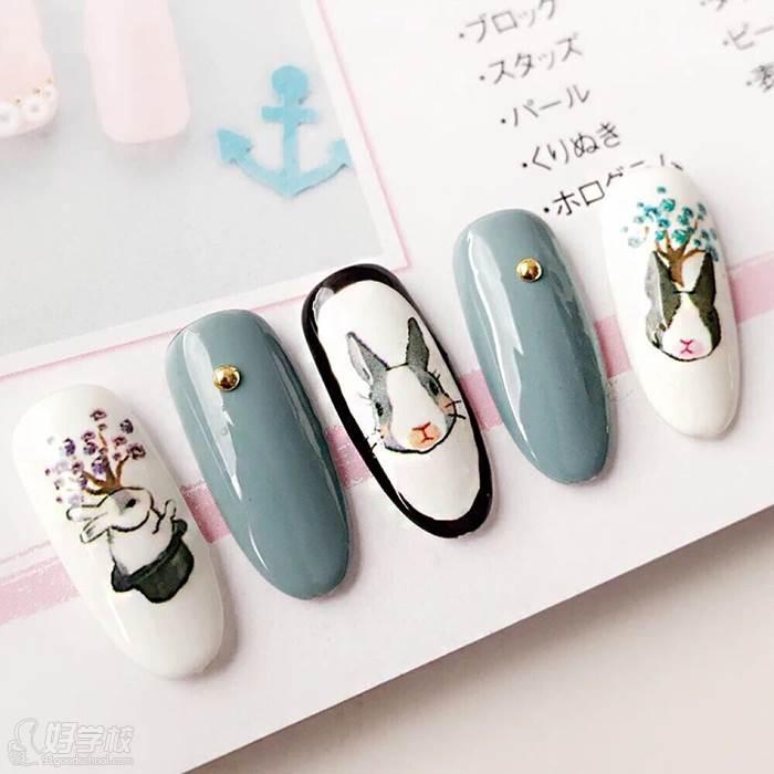 珠海爱尚国际美妆培训学校  美甲作品