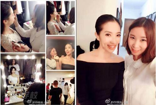 陆薇薇老师受邀为韩国著名歌手Sophia kin化妆造型