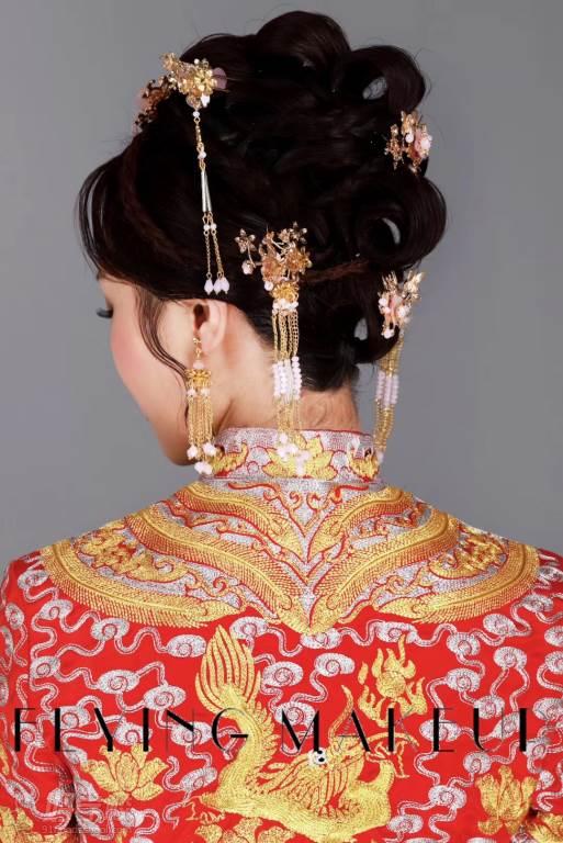 北京弗萊茵化妝培訓學校  中式龍鳳褂造型