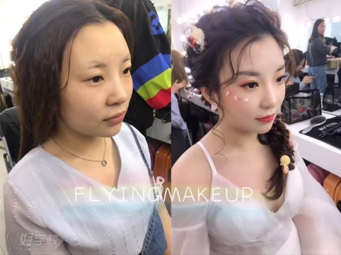 北京弗萊茵化妝培訓學校  化妝造型效果對照