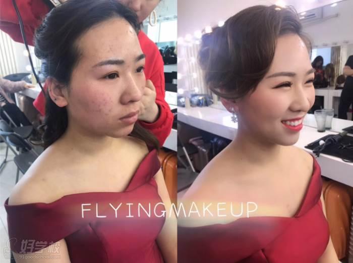 北京弗萊茵化妝培訓學校  化妝形象提升效果前后對比