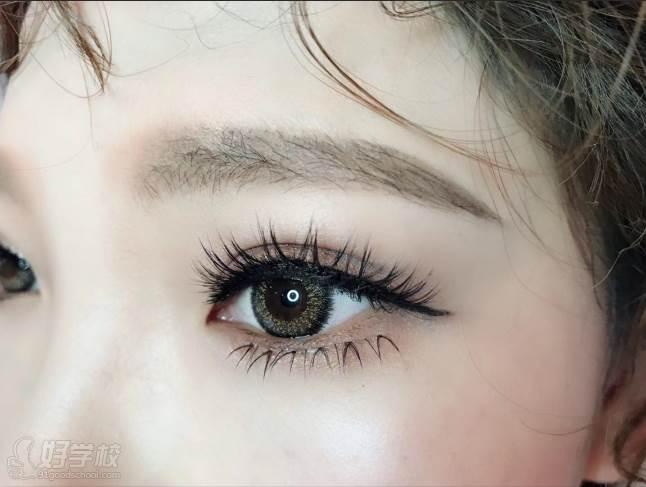 北京弗萊茵化妝培訓學校  半永久紋繡課程 美睫線作品