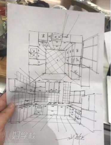 广州量宅定制设计教育  手绘课程与作品