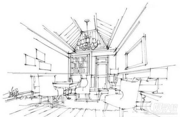 广州量宅定制设计教育  空间透视图