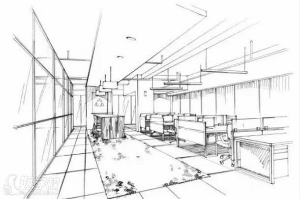 广州量宅定制设计教育  室内空间线稿