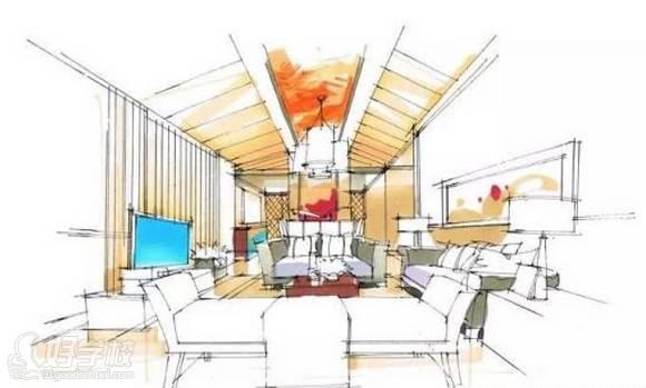 广州量宅定制设计教育  手绘步骤