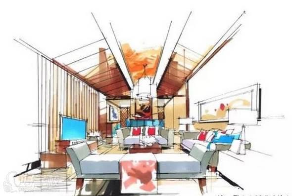 广州量宅定制设计教育  手绘流程