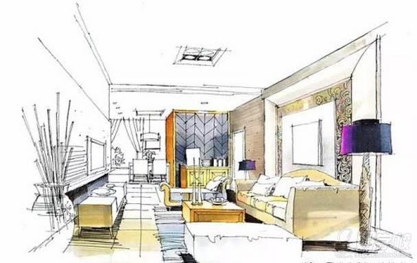 广州量宅定制设计教育  手绘空间色彩装饰