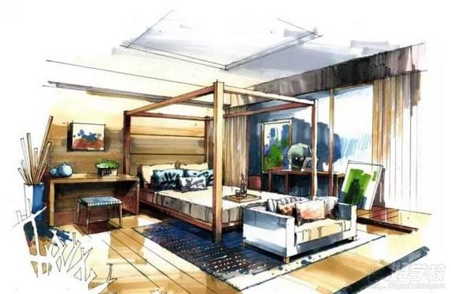 广州量宅定制设计教育  手绘空间作品展示