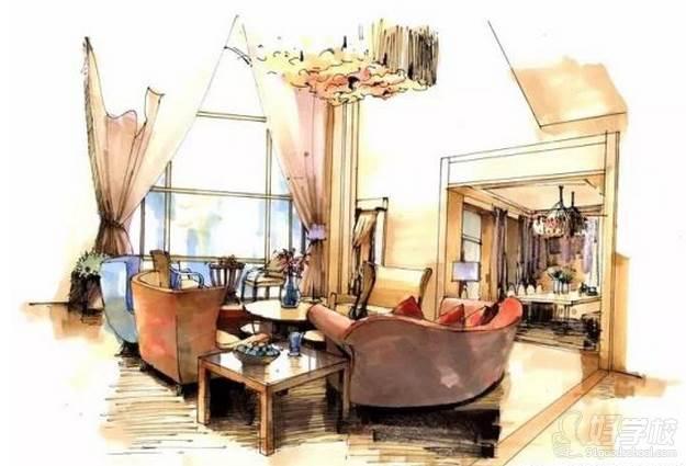 广州量宅定制设计教育  手绘练习作品