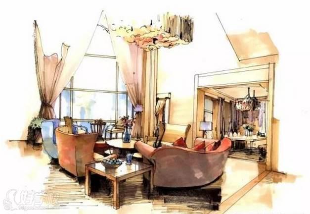 广州量宅定制设计教育  手绘技巧