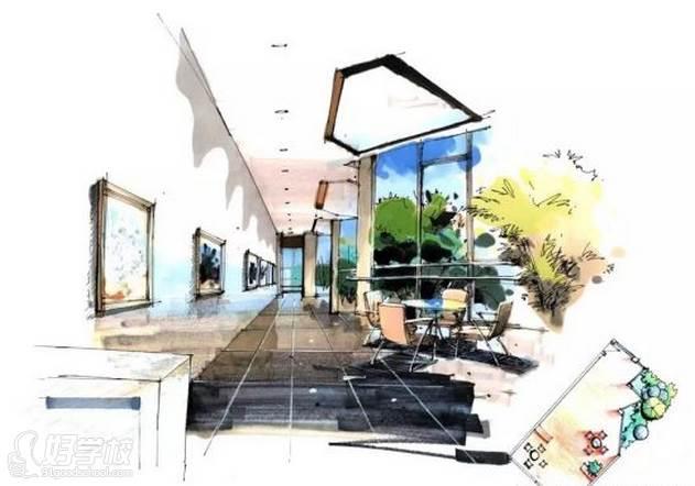 广州量宅定制设计教育  手绘成品