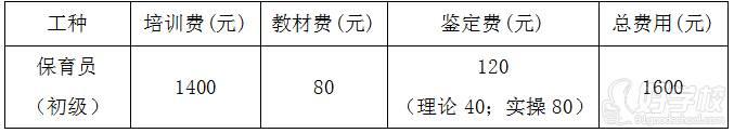 广州依佳族家政服务培训中心 收费标准