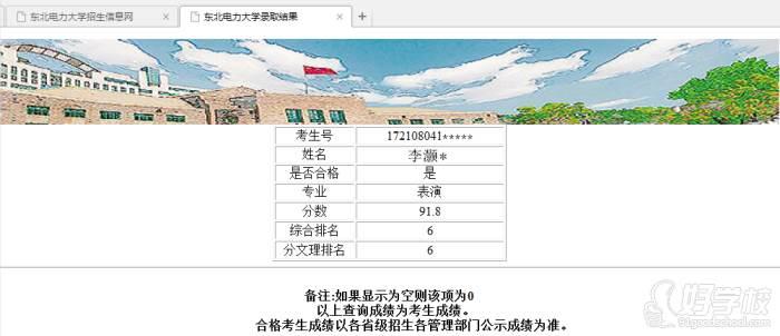 陕西芽色艺术培训中心  李同学-东北电力大学合格证