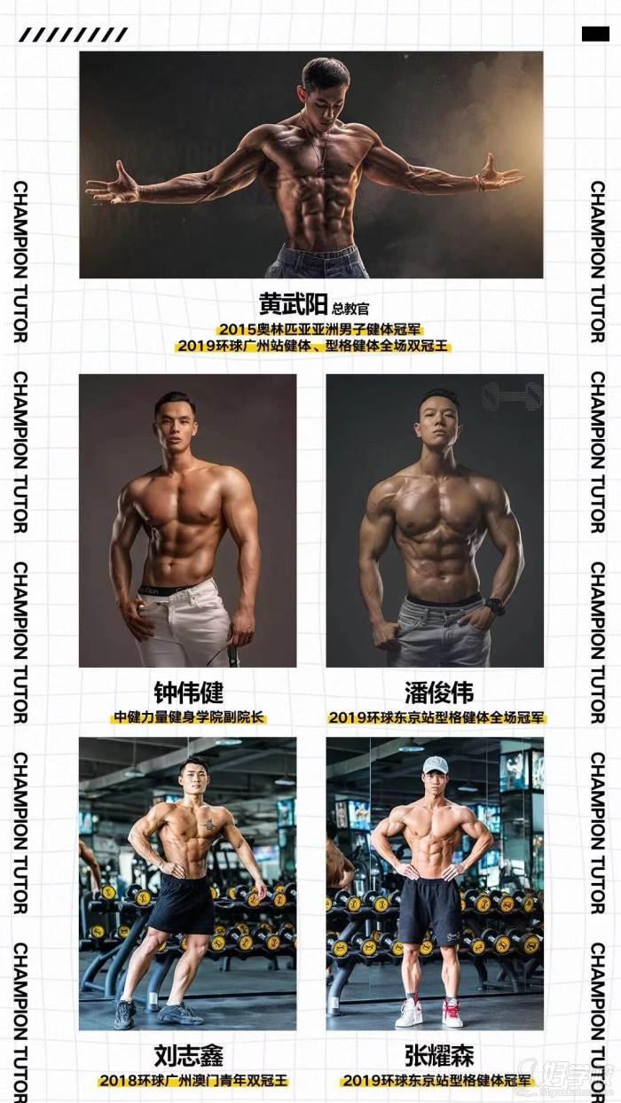 广州中健力量健身学院   师资力量