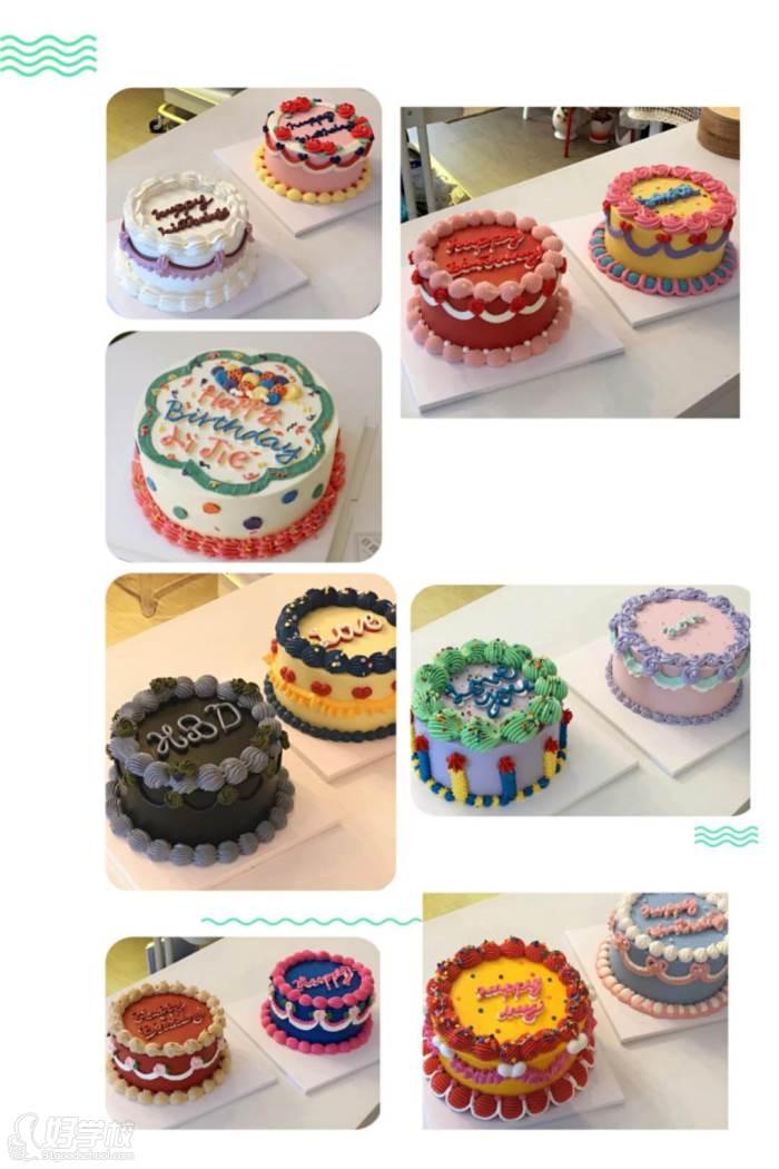 网红韩国复古蛋糕