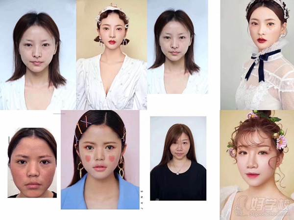 宝鸡小乐造型化妆培训学校 化妆免费课