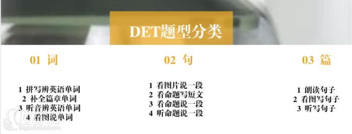 广州韦文新视界教育 题型分类
