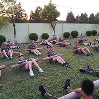 """上海21天""""好习惯成长""""特训军事夏令营"""