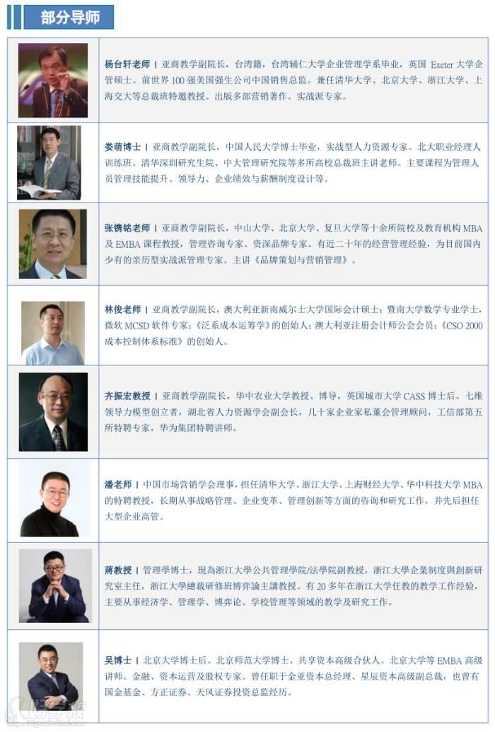 香港亚洲商学院 师资力量