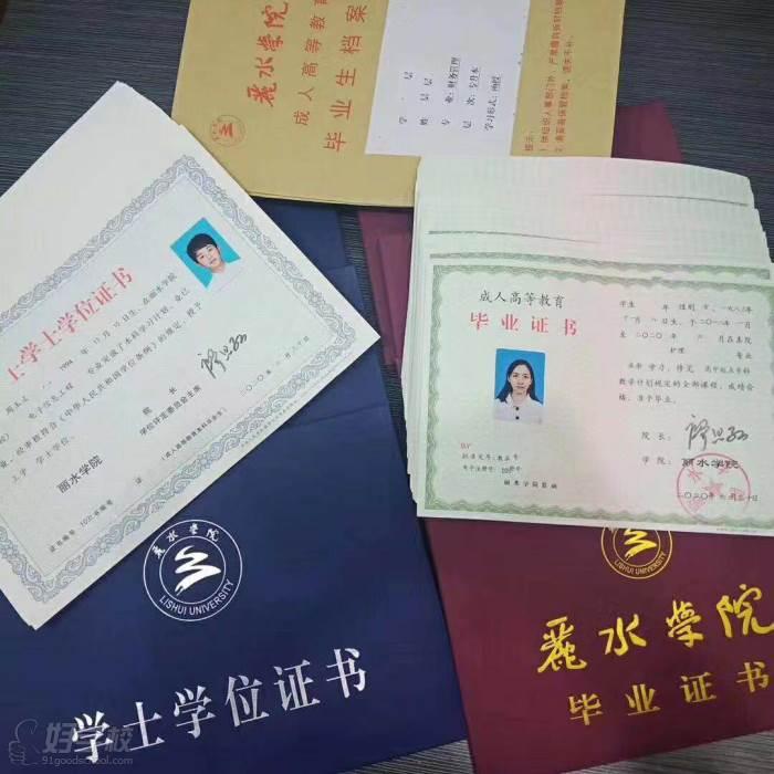 丽水学院 毕业证