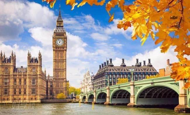 英国建筑红蓝素材