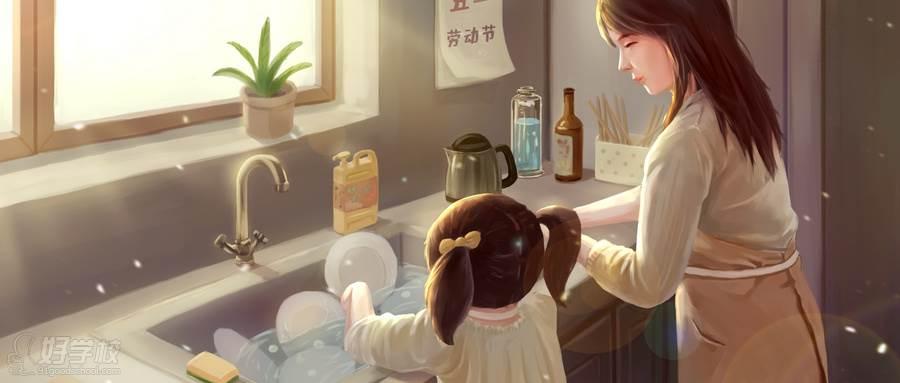 摄图网_401148568_wx_帮妈妈做家务(企业商用)