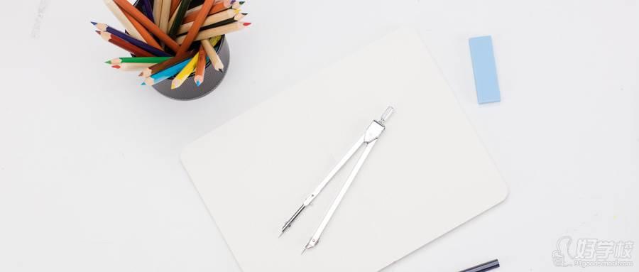 摄图网_500123152_wx_创意学习铅笔圆规桌面摆拍(企业商用)