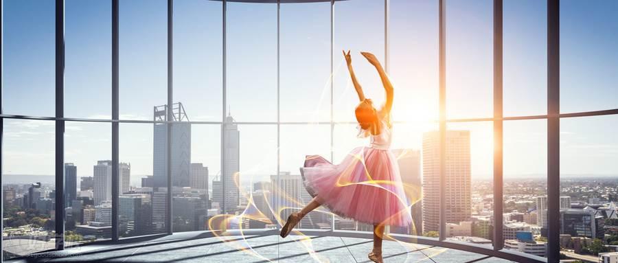 摄图网_300031728_wx_芭蕾舞女穿着粉红色连衣裙跳舞(企业商用)