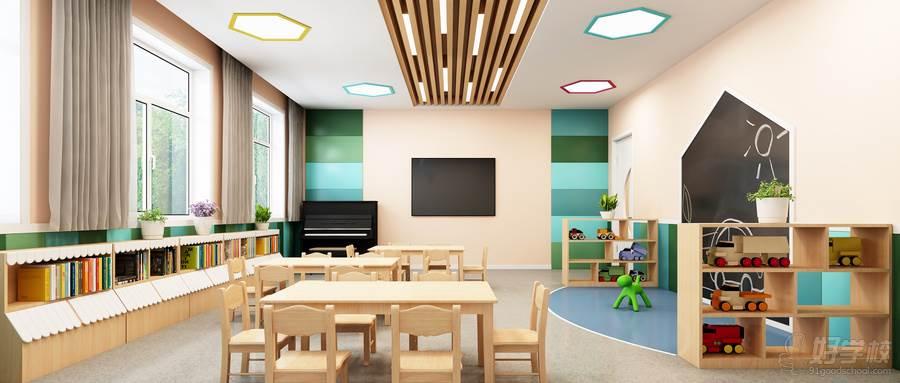 摄图网_401733285_wx_3D教室场景(企业商用)