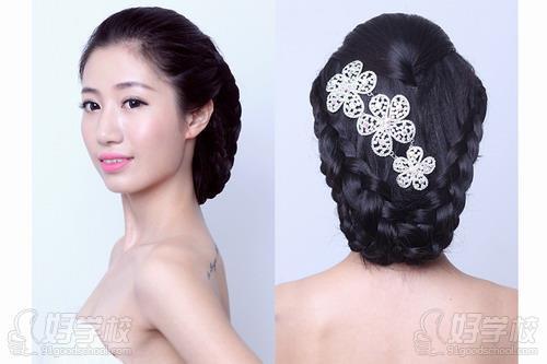 韩式新娘  新娘整体造型  新娘发型模仿操作 四,舞台发型  女艺人图片