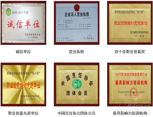杭州食尚香--公司荣誉